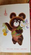 USSR. SOVIET PROPAGANDA.  OLYMPIC MISHA (BEAR).  Old Double PC. 1979 - Jeux Olympiques