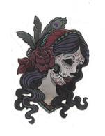 Adesivo Calcomania Sticker Tatoo Tatuaggio Sexy Beauty Donna Fiori Penne Indiana Zombie Dimensioni Cm 7x5 Circa Forma Se - Adesivi