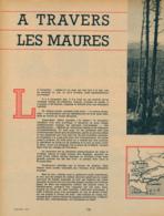 1958 : Document, LES MAURES, Forêt Du Dom, Le Lavandou, Bormes, Fort De Brégançon, Gassin, Grimaud, Le Cap Nègre... - Old Paper