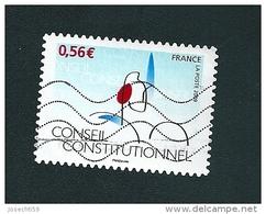 337 Conseil Constitutionnel  CINQUANTENAIRE 2009 Timbre France   Oblitéré - Usati