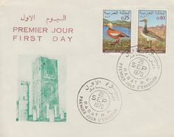 Enveloppe  FDC  1er  Jour  MAROC   Oiseaux   1970 - Marokko (1956-...)