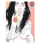 Adesivo Calcomania Sticker Tatoo Tatuaggio Sexy Beauty Donna Sigaretta Dimensioni Cm 7,5x5 Circa Forma Rettangolare - Adesivi