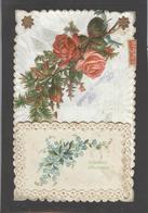 Themes Div-ref AA696- Carte Avec Decoupis -ajoutis - Decoupi  Fleurs - - Fantaisies