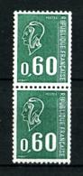 1815b - 60c Vert Béquet - Paire De Roulette Avec Numéro Rouge 450 - Neuf N** - Très Beau - Rollen