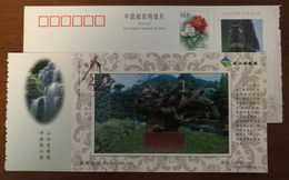 Tree-root Carving Park,waterfall,China 2002 Kaihua Headstream Of Qianjiang River Tourism Advert Pre-stamped Card - Other
