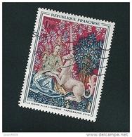 1425 La Dame à La Licorne  Tapisserie XV Musée De Cluny   Oblitéré Timbre  FRANCE 1964 Variété Marron Derrière Les Tronc - Errors & Oddities