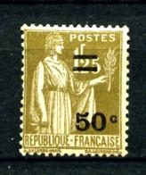 298 - 50c Sur 1F25 Olive Type Paix - Neuf N** - Très Beau - 1932-39 Paix
