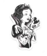 Adesivo Calcomania Sticker Tatoo Tatuaggio Sexy Beauty Donna Biancaneve Papera Dimensioni Cm 7,5x4,5 Circa Forma Segue S - Adesivi