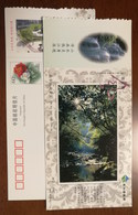 Mt.Nanhuashan Woods & Stream,waterfall,China 2002 Kaihua Headstream Of Qianjiang River Tourism Advert Pre-stamped Card - Other
