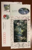 Mt.Nanhuashan Woods & Stream,waterfall,China 2002 Kaihua Headstream Of Qianjiang River Tourism Advert Pre-stamped Card - Holidays & Tourism