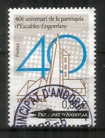 40è Aniversari De La Parròquia D'Escaldes-Engordany 1978-2018., Un Timbre Oblitéré, 1 ère Qualité - Andorre Français