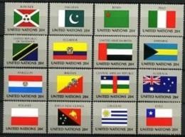 NATIONS-UNIES (New-York) - 416 / 431 - Drapeaux - Série Complète - Neufs N** - Timbres