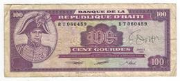 Haiti 100 Gourdes 1991. Used, See Scan. - Haiti
