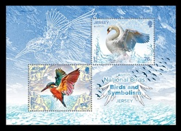 Jersey 2019 Mih. 2291 2293 (Bl.185) Europa. Fauna. National Birds MNH ** - Jersey