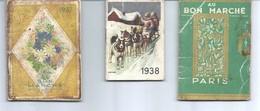 """Trois Petits Calendriers """"Au Bon Marché"""" 1935, 1938 Et 1937 - Small : 1921-40"""