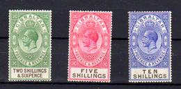 1912-19  Gibraltar, George V, 84 – 86 - 88*, Cote 111 € - Gibraltar