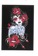 Adesivo Calcomania Sticker Tatoo Tatuaggio Sexy Beauty Donna Fiori Frecce Rose Dimensioni Cm 7,5x5,5 Circa Forma Rettang - Adesivi