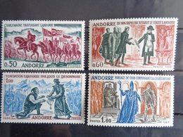 ANDORRE 1963-64 Y&T N° 167 à 170 ** - FAITS HISTORIQUES D'ANDORRE - Nuovi