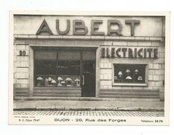 Dijon - Devanture Magasin - Aubert Electricité 20 Rue Des Forges CP EN  PAPIER FIN - Dijon