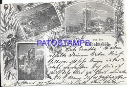 108410 GERMANY GRUSS AUS WILHELMSHÖH ART MULTI VIEW  POSTAL POSTCARD - Germania
