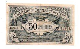 Gers - Cinquante Centimes-voir état - Chambre De Commerce