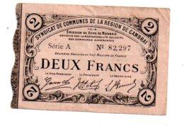 Région De Cambrai - Deux Francs-voir état - Chambre De Commerce
