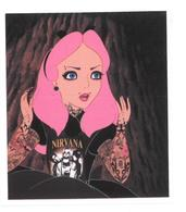 Adesivo Calcomania Sticker Tatoo Tatuaggio Sexy Beauty Donna Nirvana Dimensioni Cm 7,5x6,5 Circa Forma Rettangolare - Adesivi