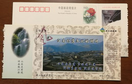 Xiashan Ancient Villages,waterfall,China 2002 Kaihua Headstream Of Qianjiang River Tourism Advert Pre-stamped Card - Holidays & Tourism