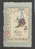 Themes Div-ref AA684- Carte Avec Decoupis -ajoutis - Decoupi  Enfant Et Poupées - Paillettes -dorures - Carte 2 Volets - - Fantaisies