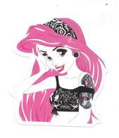 Adesivo Calcomania Sticker Tatoo Tatuaggio Sexy Beauty Donna Capelli Rosa Dimensioni Cm 6,5x5,5 Circa Forma Segue Silhou - Adesivi
