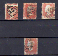 1854-58  Grande Bretagne,  Queen Victoria, 3x 8 Ø + 10, Cote 110 €,  Curiosité Sur Une Valeur - 1840-1901 (Victoria)