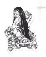 Adesivo Calcomania Sticker Tatoo Tatuaggio Sexy Beauty Donna Fede Perduta Lost Faith Dimensioni Cm 7x5 Circa Forma Segue - Adesivi