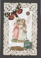 Themes Div-ref AA681- Carte Avec Decoupis -ajoutis - Decoupi  Enfants  Et Papillon - Souvenir - - Fantaisies