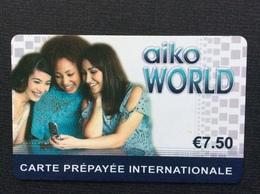 CARTE PREPAYEE   Aiko WORDL  *7,50€  9309 - Autres Prépayées