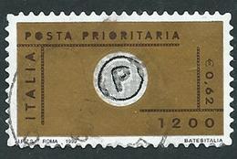 Italia 1999; Posta Prioritaria Da L.1200 = € 0,62. - 1991-00: Usati