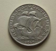 Portugal 5 Escudos 1940 Silver - Portugal