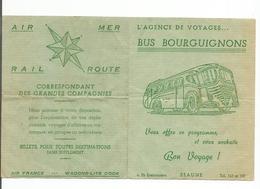 21-BEAUNE BUS BOURGUIGNONS AGENCE DE VOYAGES 4 Faubourg Bretonniere - Publicité