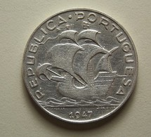 Portugal 5 Escudos 1947 Silver - Portugal