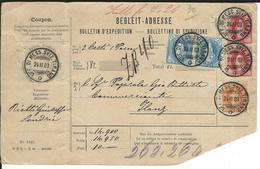 SBK 2x75D, 66E, 2x67E Begleitadresse Tirano 24.2.03 Nach Ilanz - Briefe U. Dokumente