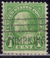 United States, 1923, Franklin, 1c, Sc#552, Used - Oblitérés