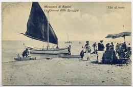 RIMINI-MIRAMARE DI RIMINI VITA AL MARE-VIAGGIATA1930 PER LA CEKOSLOVAKKIA - Rimini