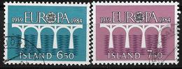 1984 Iceland Island Mi. 614-5 Used  25 Jahre Europäische Konferenz Der Verwaltungen Für Das Post- Und Fernmeldewesen - 1944-... Republik