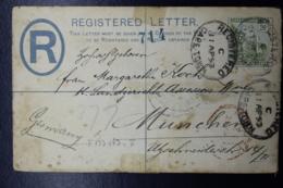 Cape Of Good Hope Registered Cover 4 P, 133:83 Mm  Munchen Germany 1893 - Südafrika (...-1961)
