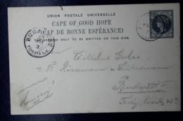 Cape Of Good Hope  Postcard T9 Written In Madeira To Budapest Hungary 1895 - Südafrika (...-1961)