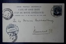 Cape Of Good Hope  Postcard T10 Siloh Moravian Missionstation -> Herrnbut Germany 1907 - Südafrika (...-1961)