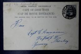 Cape Of Good Hope  Postcard T10 Port Elizabeth -> Oldenburg Germany 1899 - Südafrika (...-1961)