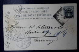 Cape Of Good Hope  Postcard T10 Port Wijnberg -> Berlin 1901 - Südafrika (...-1961)