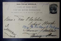 Cape Of Good Hope  Postcard HG 12 UPU In Black Bredasdorp -> Germany 1909 - Südafrika (...-1961)