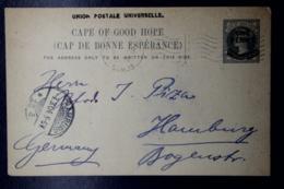 Cape Of Good Hope  Postcard HG 12 UPU In BlackCapetown -> Hamburg 1904 - Südafrika (...-1961)