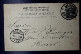 Cape Of Good Hope  Postcard P12  GPO Capetown -> Basel Switserland 1901 - Südafrika (...-1961)